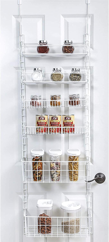 Over The Door Adjustable Pantry Organizer Rack