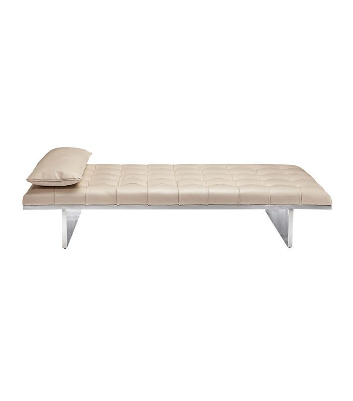 Atrium Tufted Nude Leather Daybed