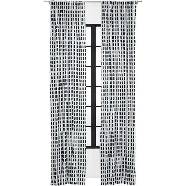 Korben Plaid Curtain Panel