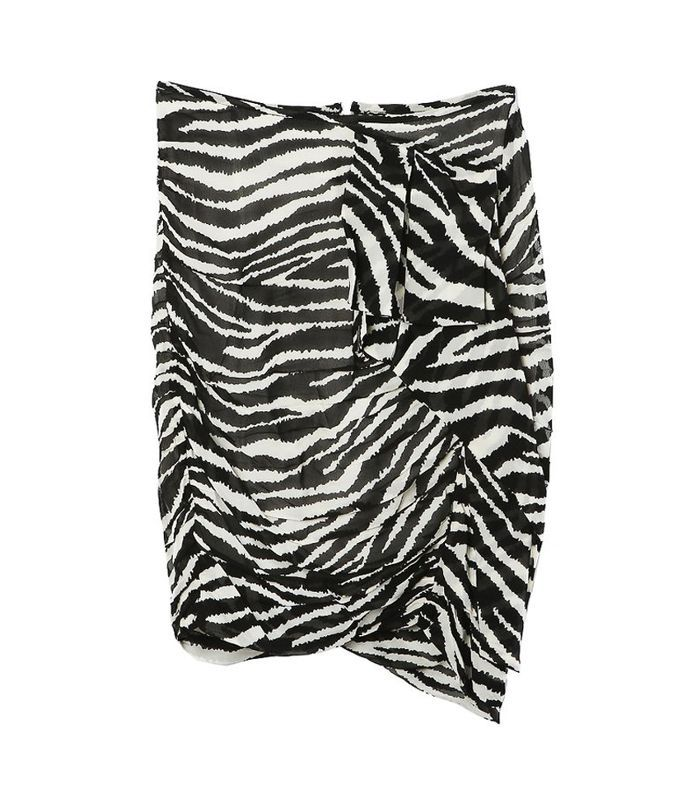 Women's Jerine Zebra-Print Chiffon Miniskirt