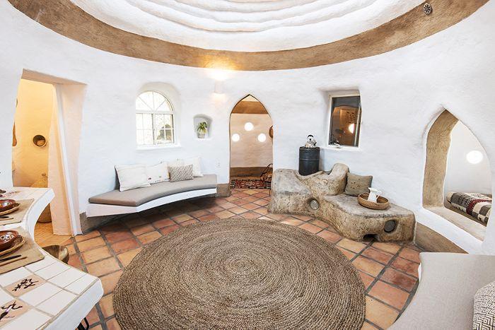 Inside a SuperAdobe home
