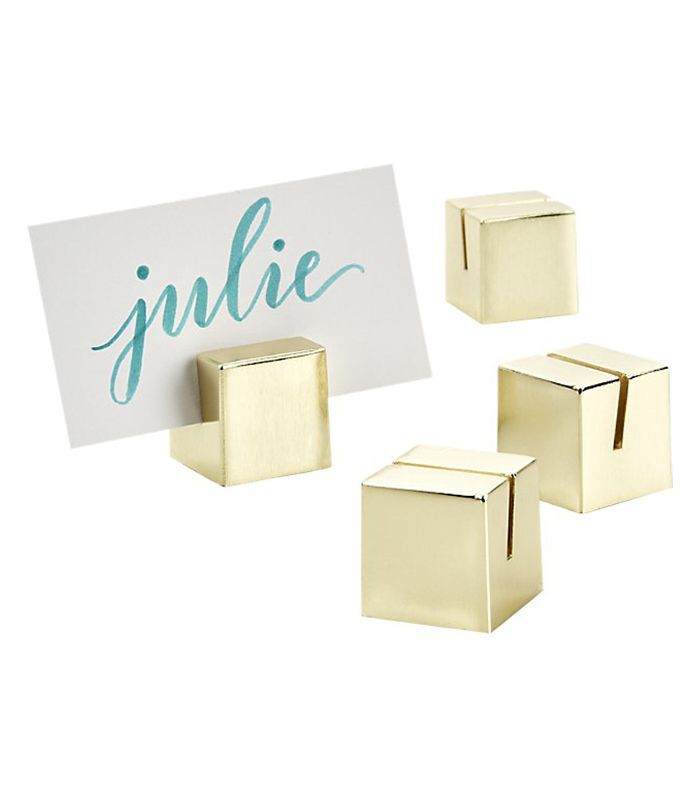 Brushed Gold Place Card Holders Set of 4