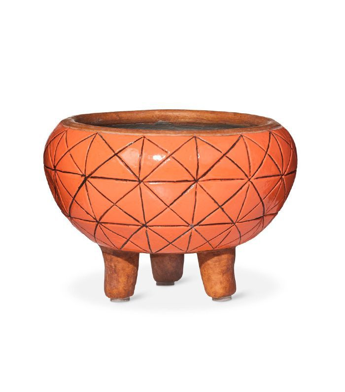 Target Burnt Orange Footed Planter