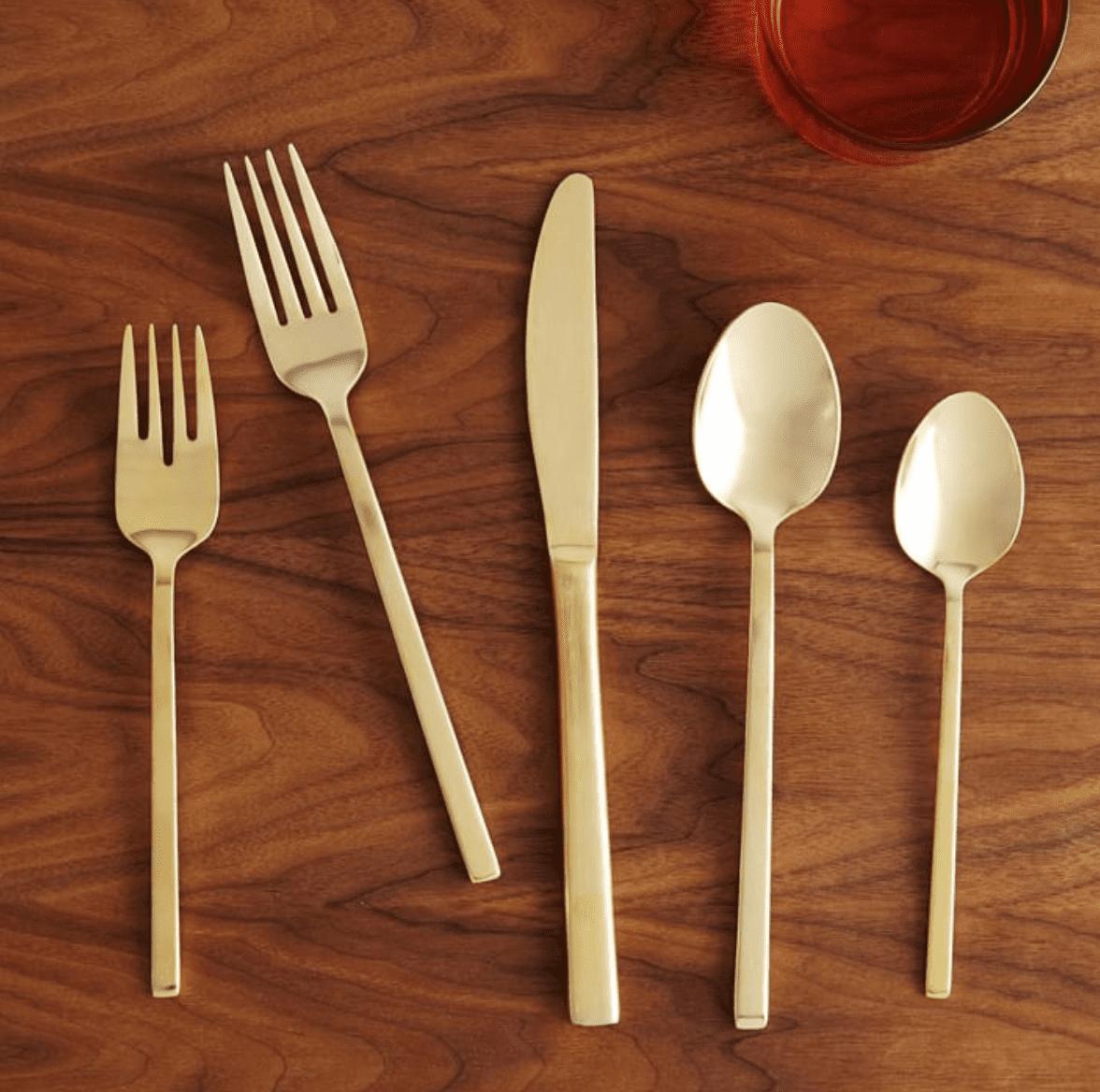 Blair Stainless Steel Gold Flatware (20-Piece Set)