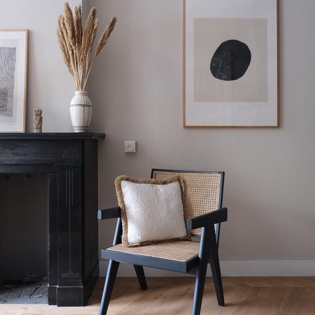 unused fireplace painted black