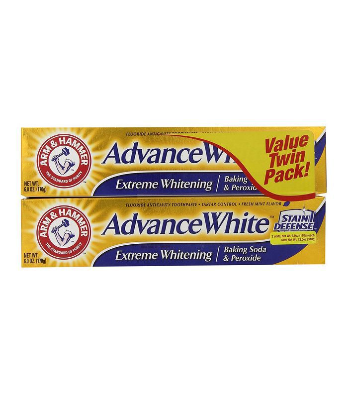Advance White Extreme Whitening Baking Soda and Peroxide Toothpaste, 6 Ounce, Twin Pack