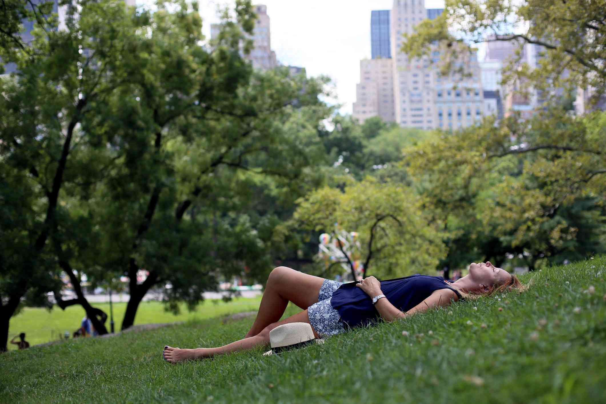 woman in central park