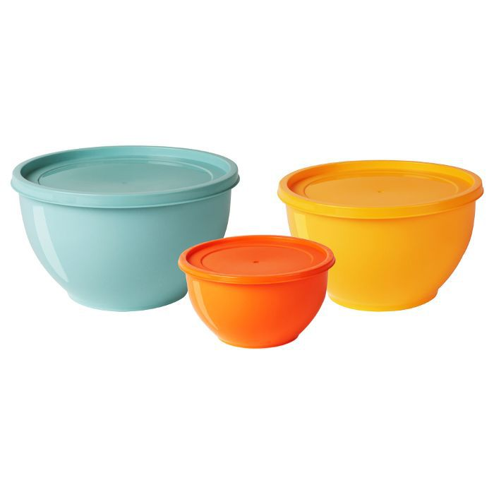 IKEA Bowl with Lid, Set of 3