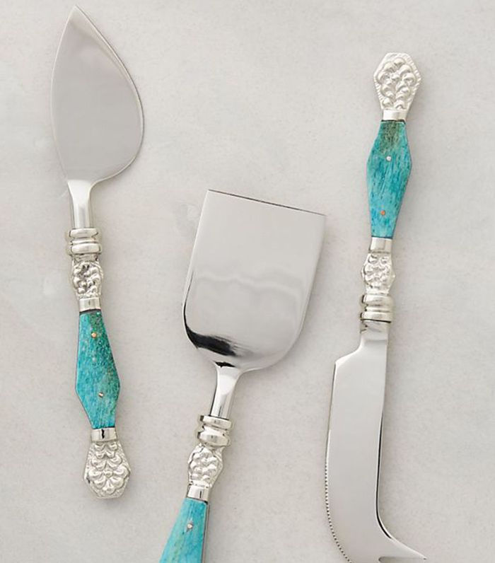 Anthropologie Resplendent Cheese Knives, Set of 3