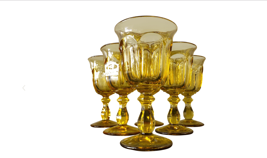 Heisey Old Williamsburg Water Goblets (Set of Six)