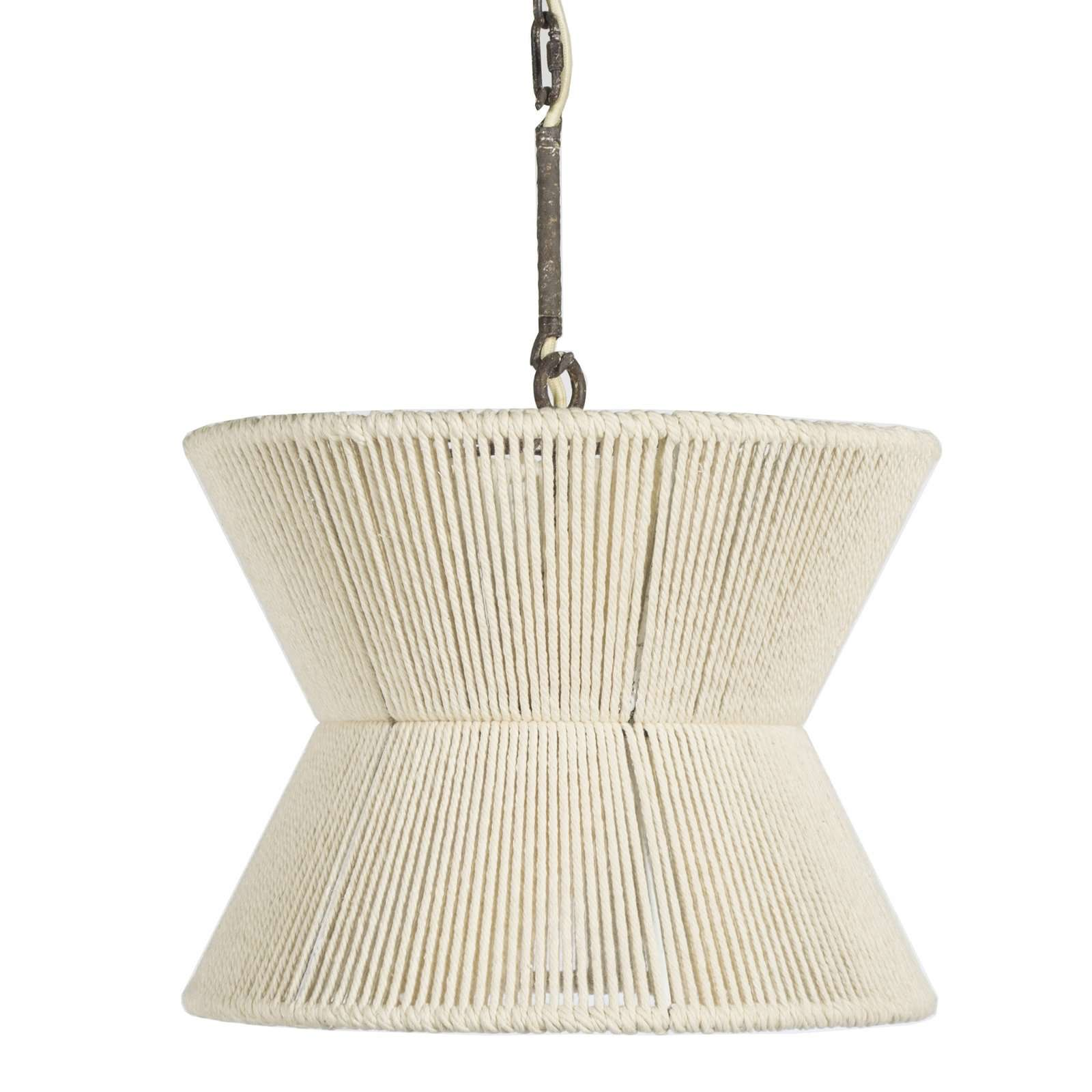 hourglass rope pendant light