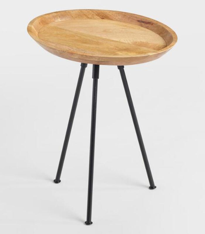 Oval Wood Lani Accent Table: Natural by World Market