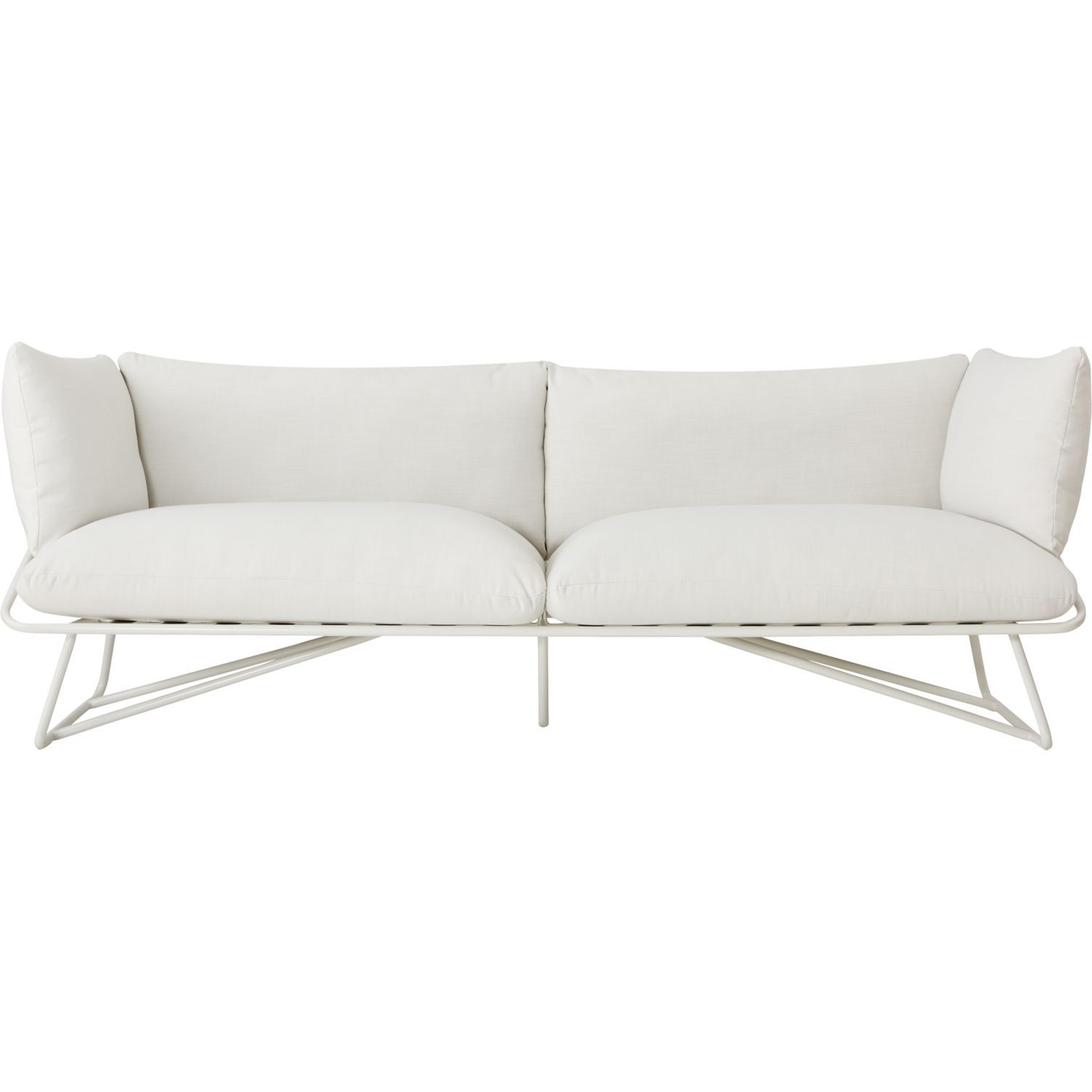 CB2 Pool Party White Outdoor Sofa