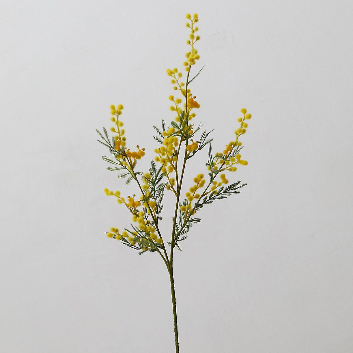Faux mimosa stem