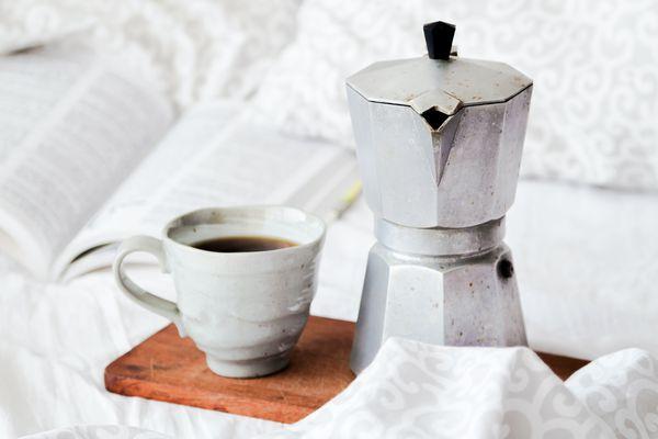 morning coffee and coffee mug