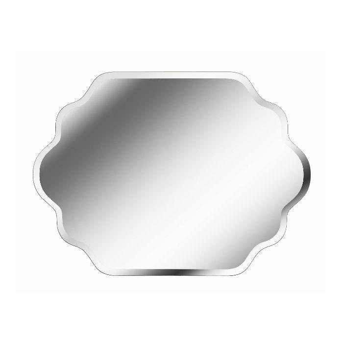Kirkland Rectangular Wavy Frameless Mirror