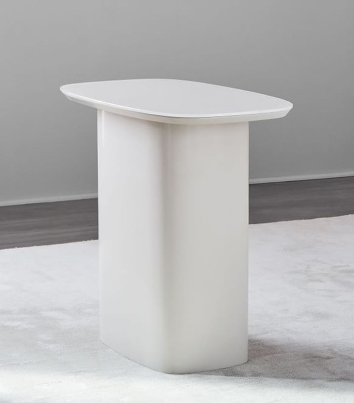 West Elm Superellipse Glass Top Side Table