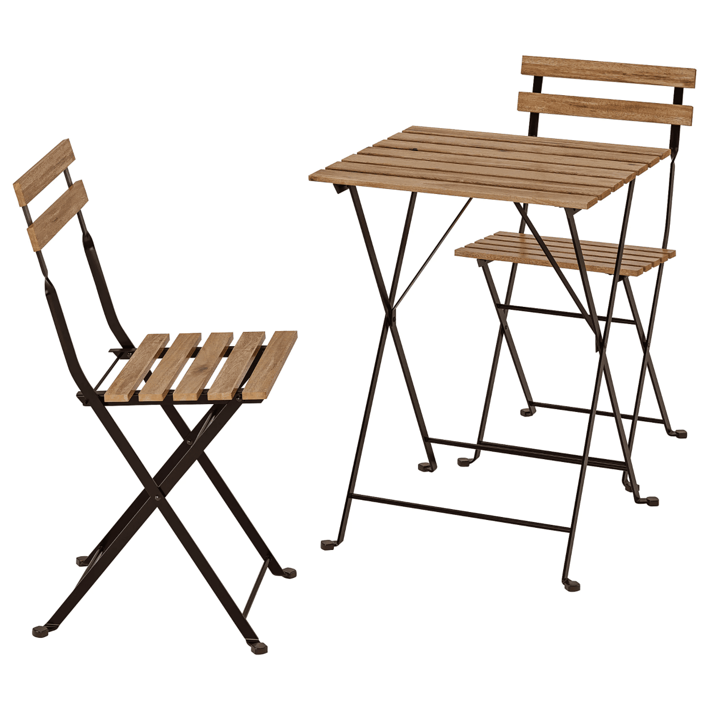 A 3-piece bistro table and chairs set, currently for sale at IKEA