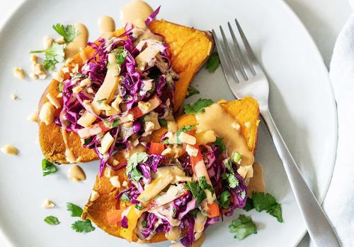 Fall Crockpot Recipes: Instant Pot Thai Sweet Potatoes With Peanut Drizzle
