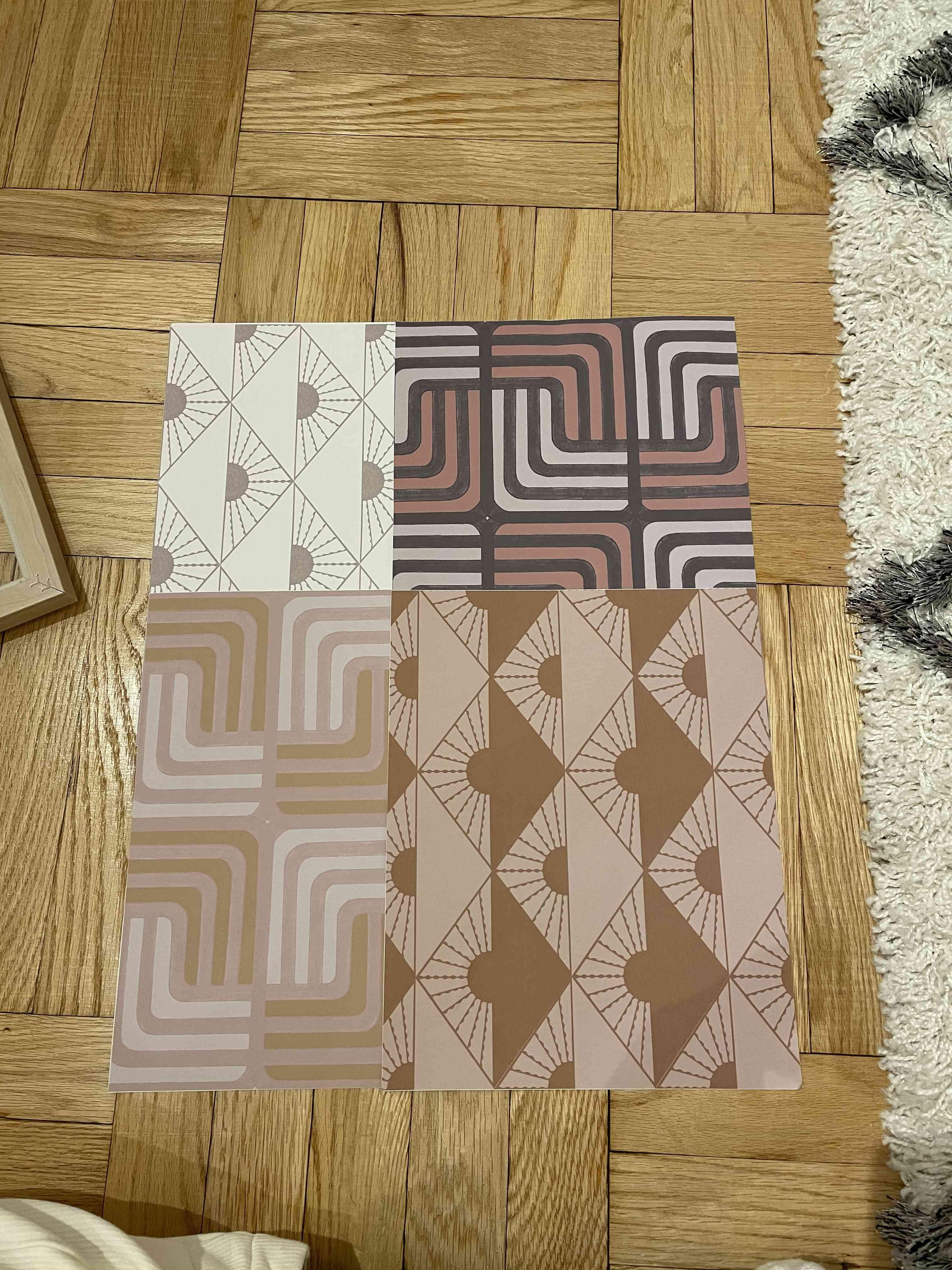 create your design- wallpaper on floor