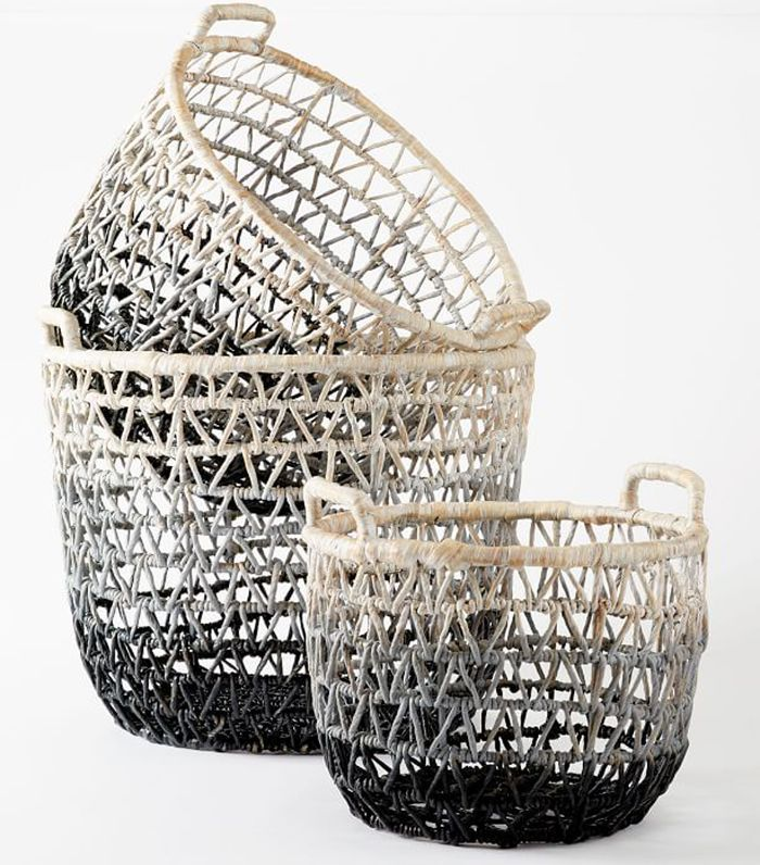 West Elm Ombre Triangle Weave Baskets