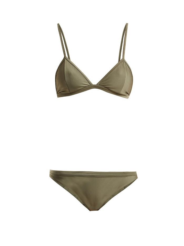 Low-rise triangle bikini