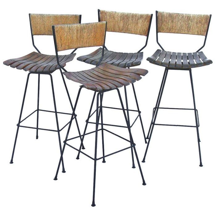 Arthur Umanoff Vintage Bar Stools, Set of 4