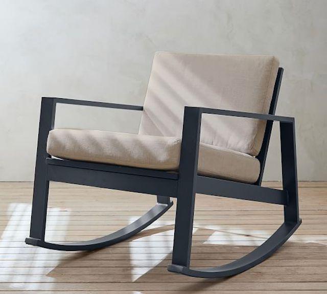 Pottery Barn Indio Metal Rocking Lounge Chair