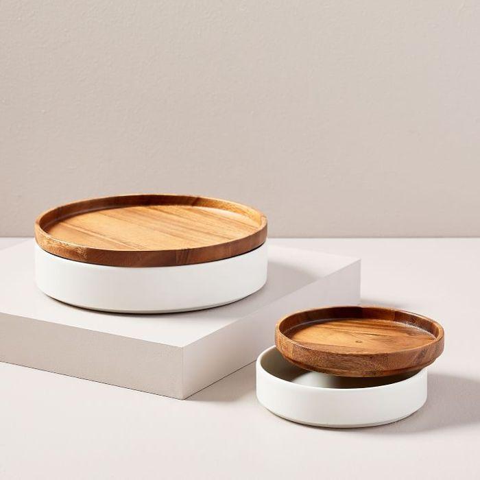 West Elm Wood + Ceramic Tableware Set