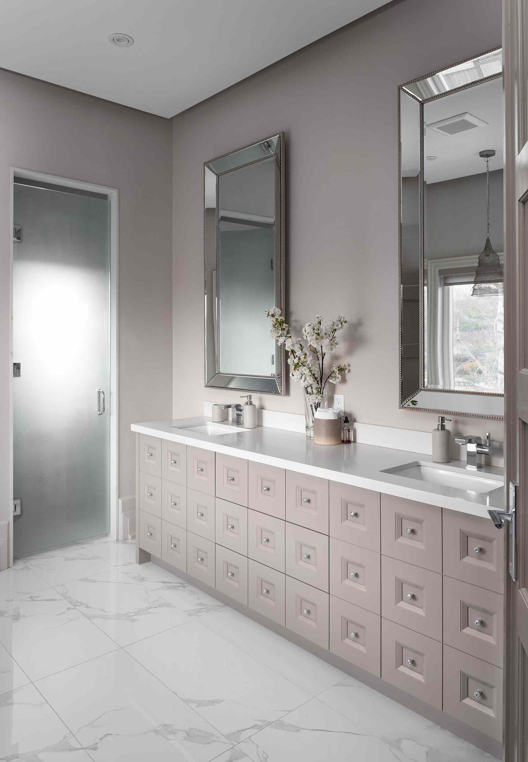 shades of taupe bathroom