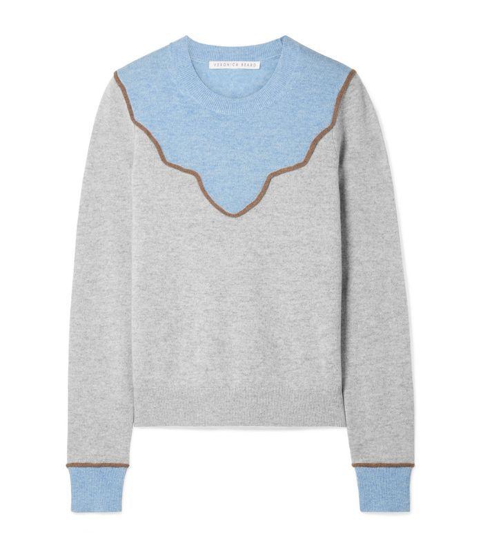 Atty Color-block Cashmere Sweater