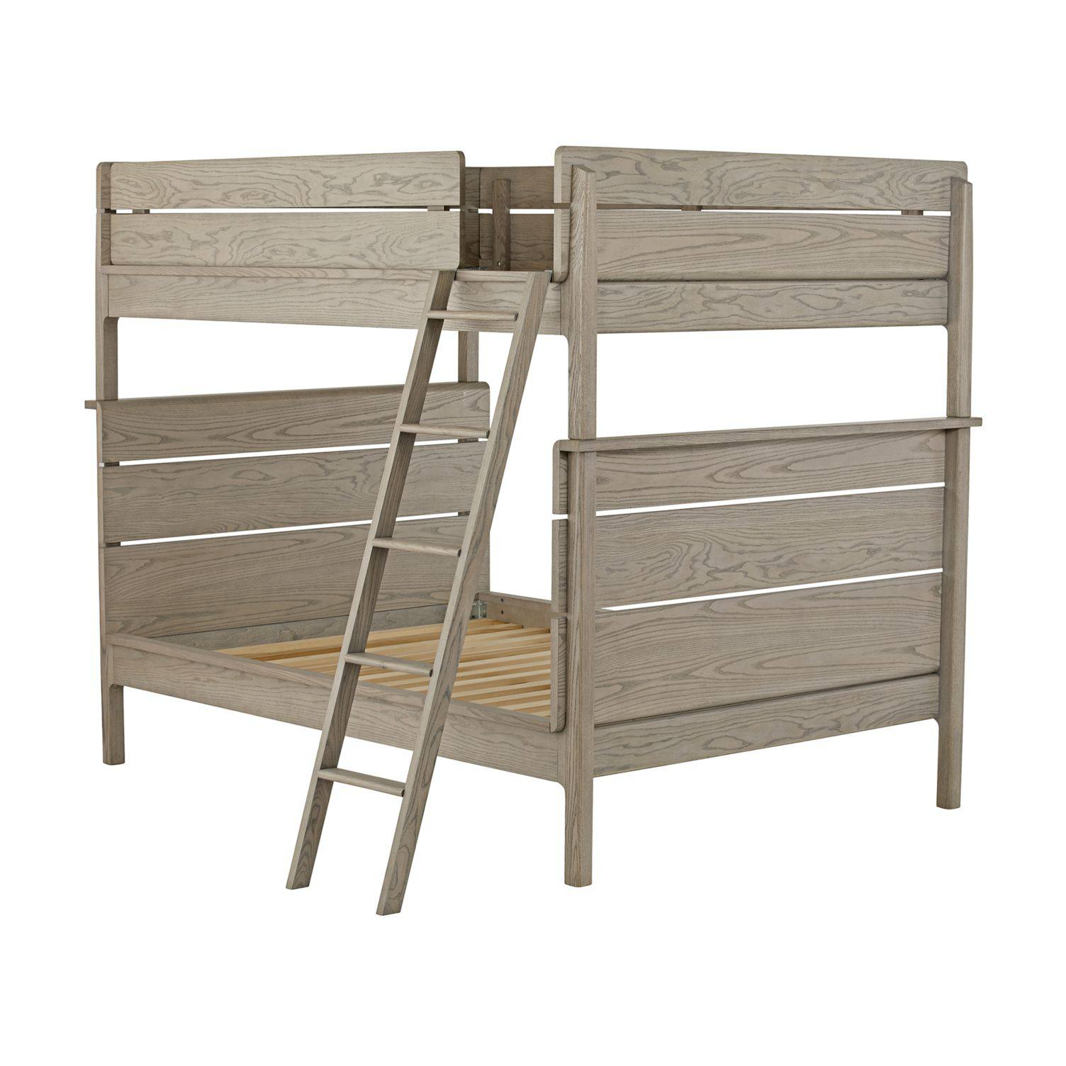 Wrightwood Grey Stain Full-Over-Full Bunk Bed