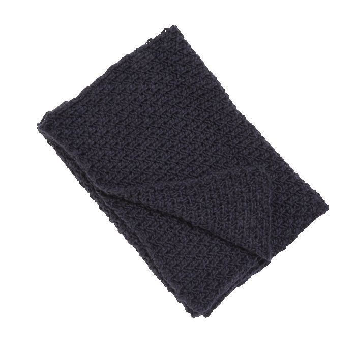 Threshold Chunky Knit Throw in Navy
