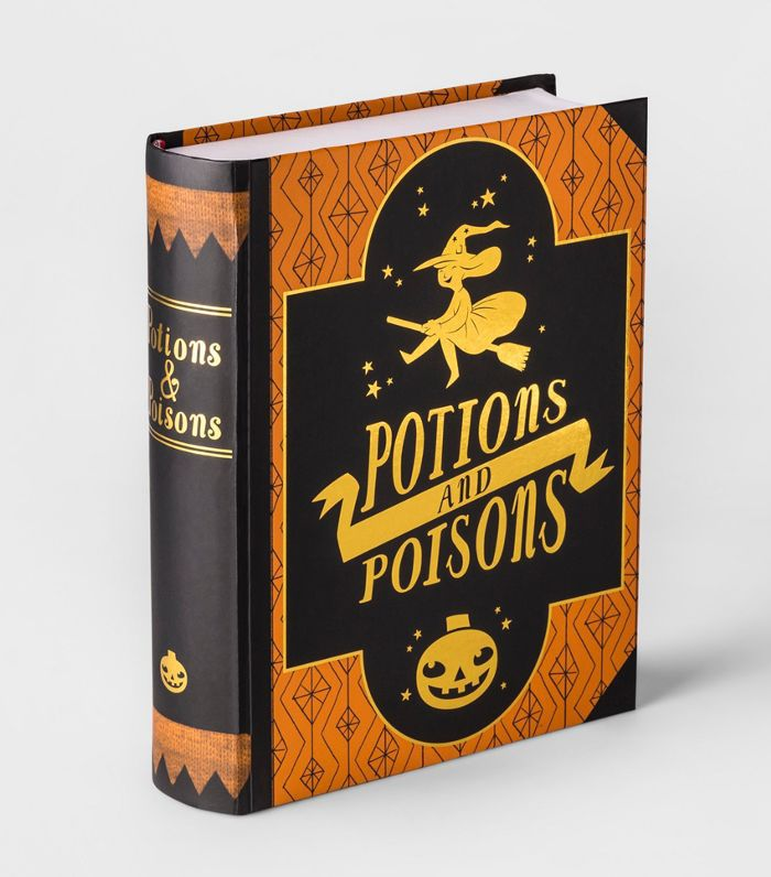 Hallows Eve Potions & Poisons Decorative Book Cheap Halloween Decor