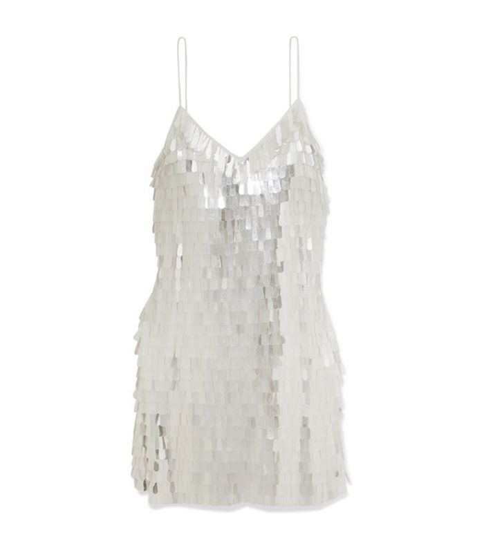 Alice + Olivia Contessa Paillette-Embellished Chiffon Mini Dress