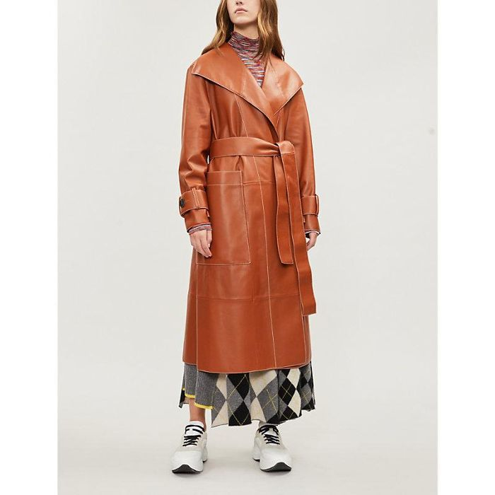 Pringle of Scotland Leather Trench Coat