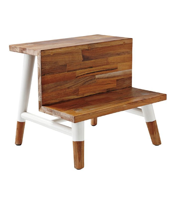 Teak Step Stool - Natural