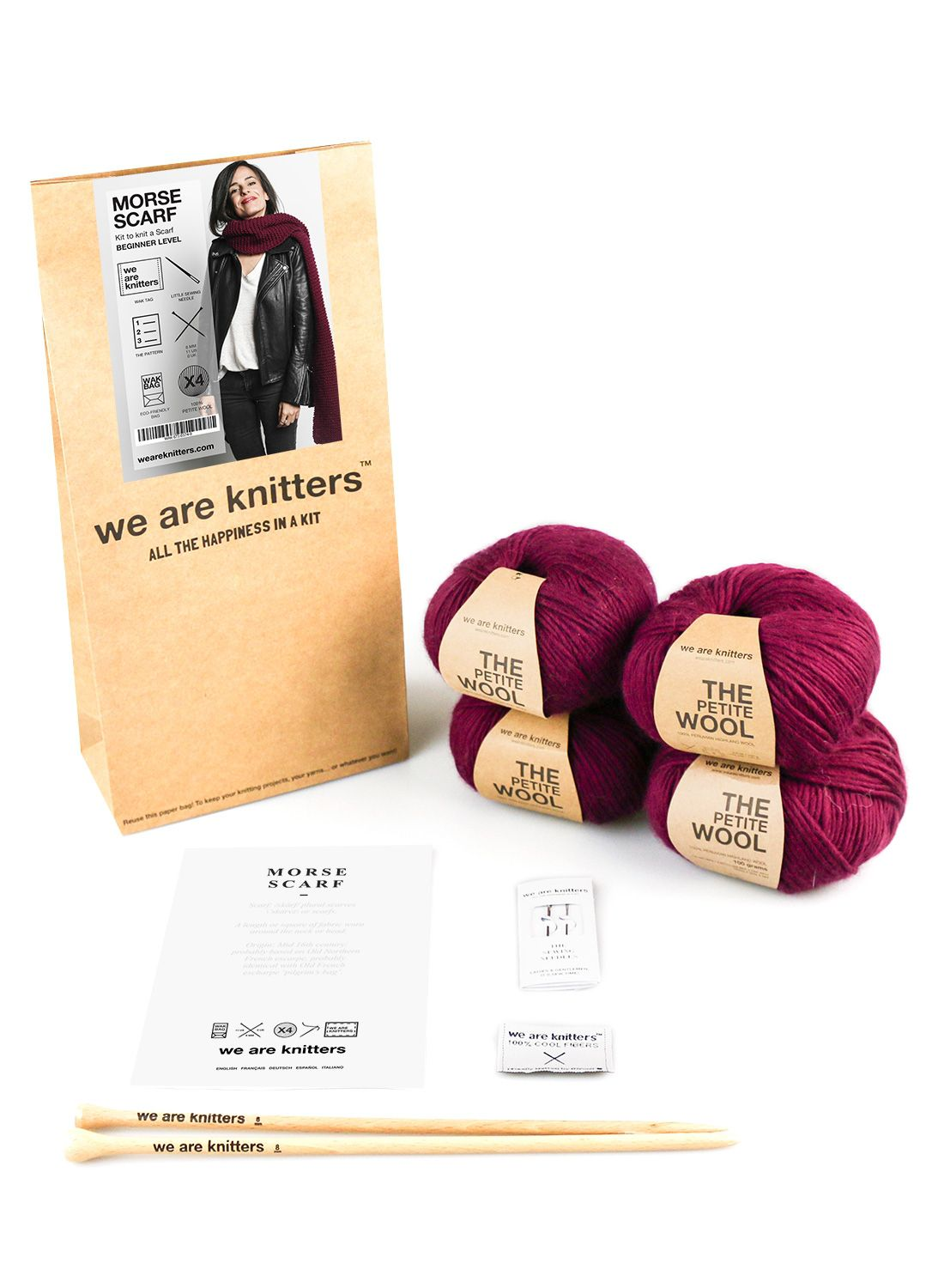 We are Knitters Morse Scarf Knitting Kit