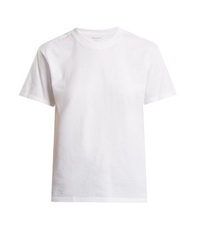X Karla The Crew cotton-jersey cropped T-shirt