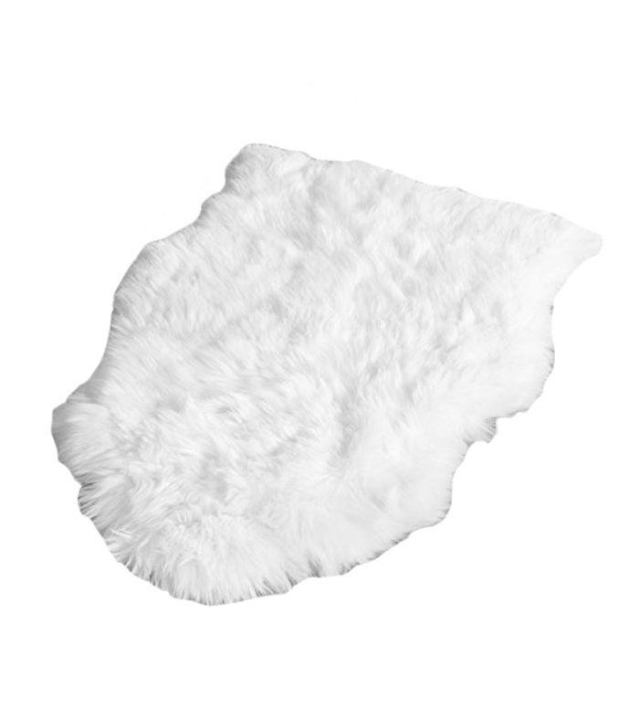 Sheepskin Collection SHS211A Genuine Sheepskin Pelt Handmade White Premium Shag Rug (5' x 8')