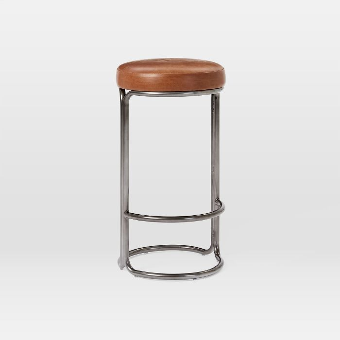 West Elm Cora Leather Counter Stool