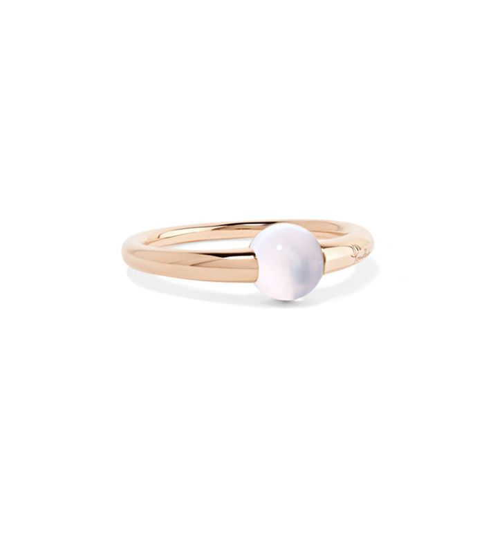 M'ama Non M'ama 18-karat Rose Gold Moonstone Ring