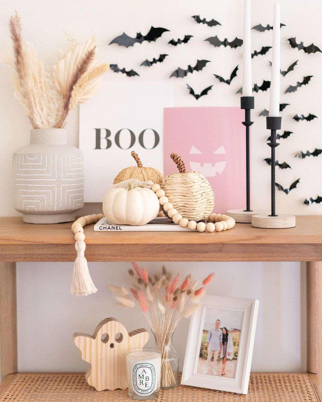 Neutral halloween decor