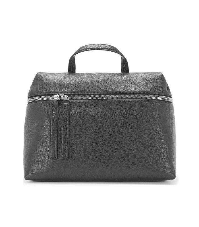 Kara Pebbled Leather Satchel -