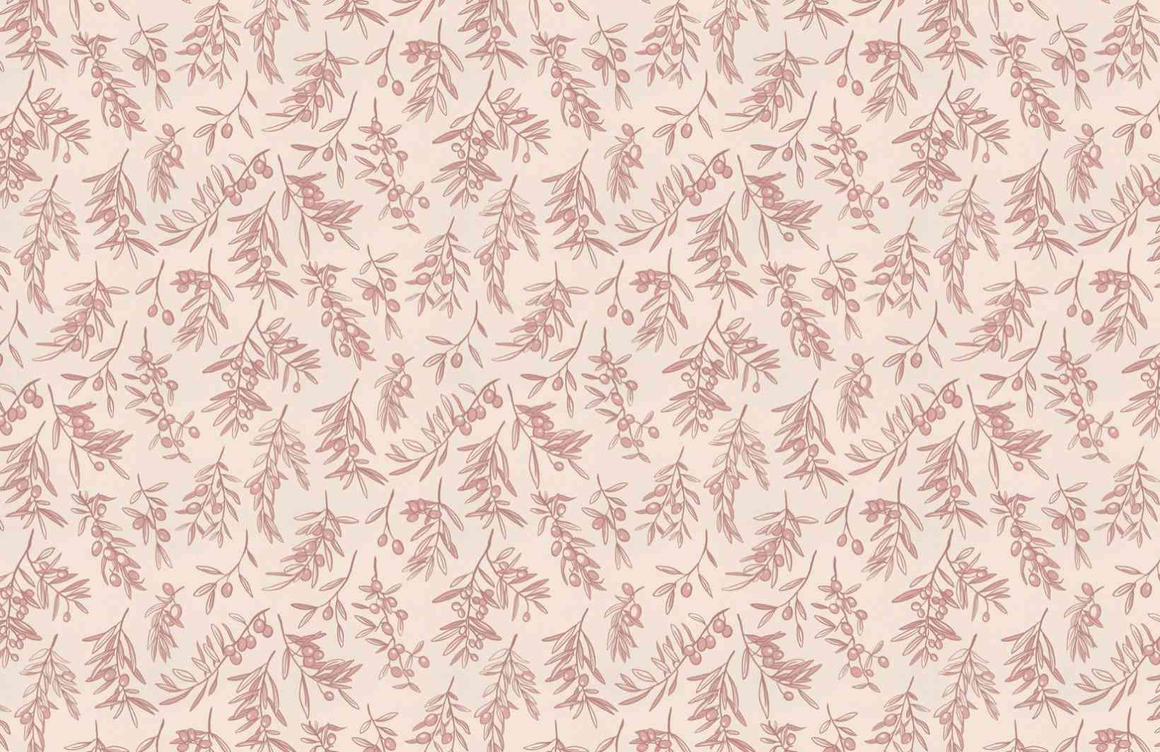 Pink olive wallpaper
