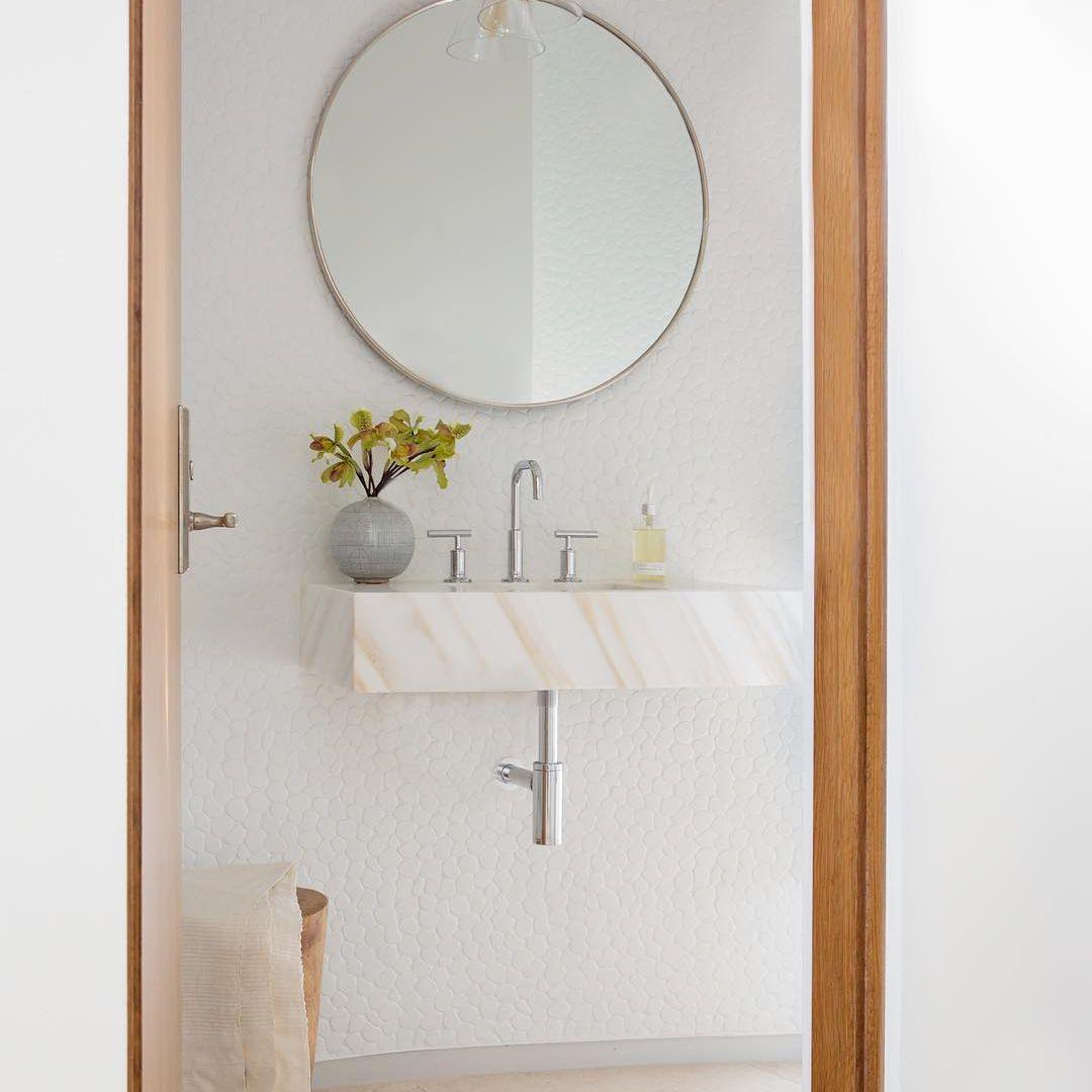 Pale colored bathroom