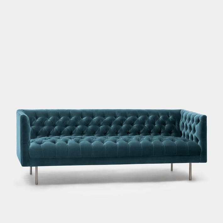 Modern Chesterfield Upholstered Sofa