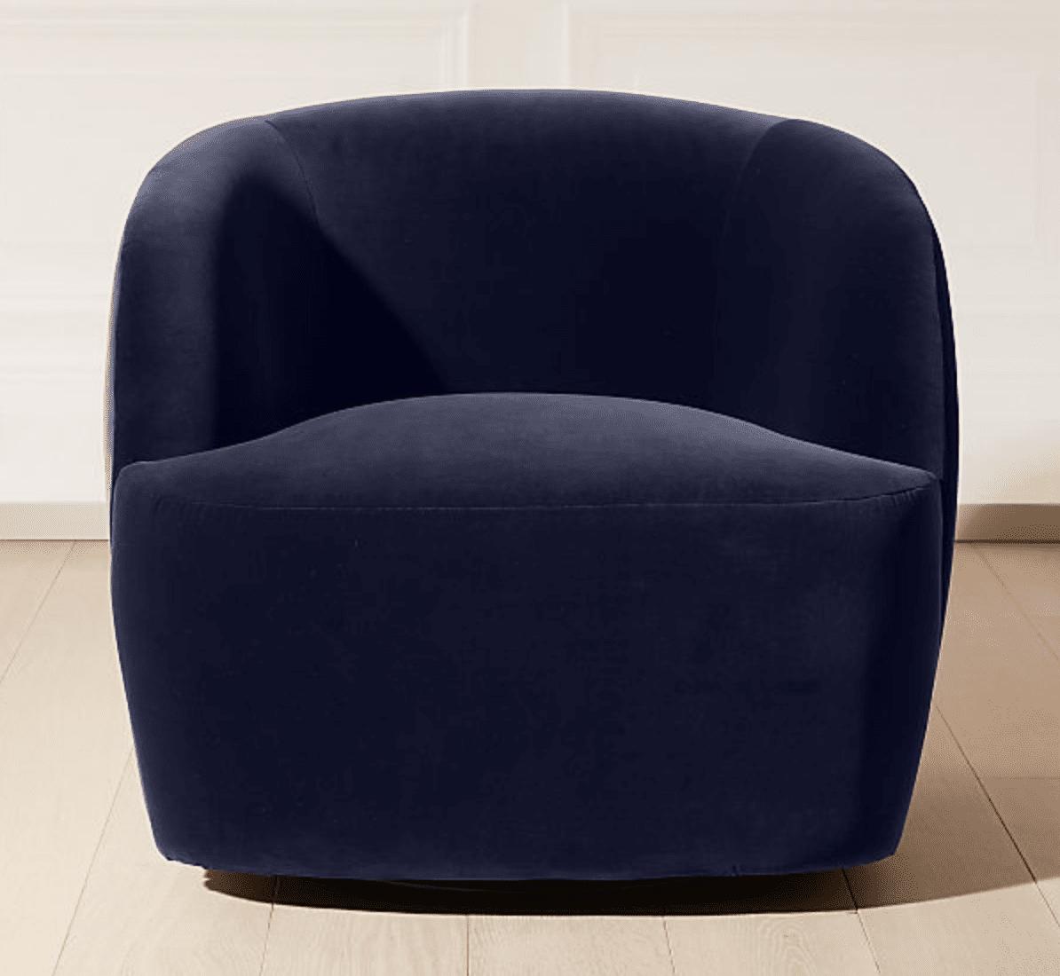 silla azul marino