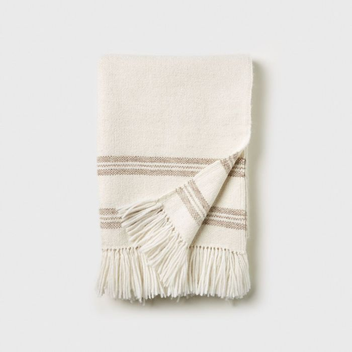Jenni Kayne Alpaca Stripe Throw Blanket