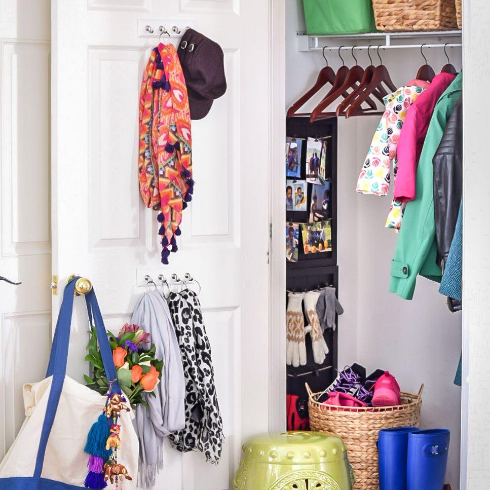 styled hall closet from casa watkins
